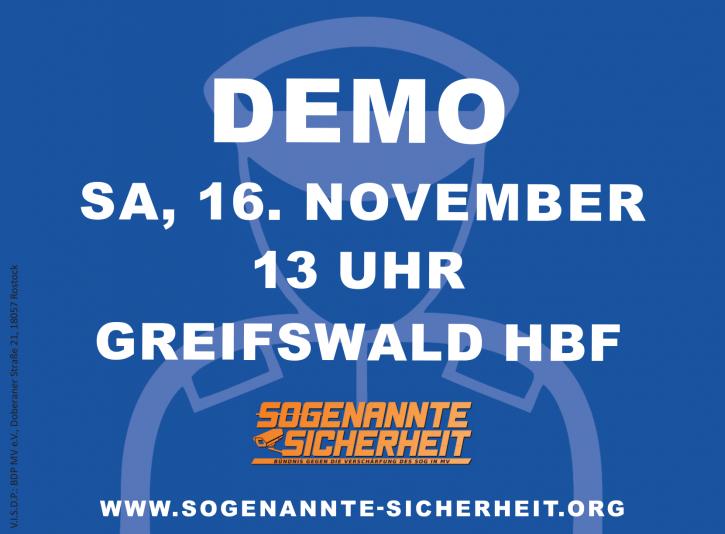 demo gegen sog mv 16.11.2019