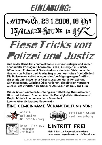 Fiese Tricks Flyer Neubrandenburg