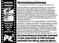 Vorratsdatenspeicherung-Veranstaltung 13. September 2007